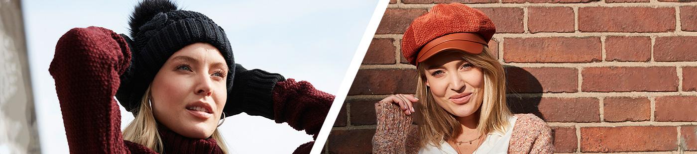 Modische Mützen und Hüte für Damen